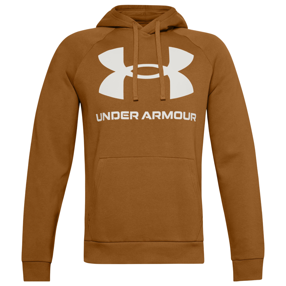 Under Armour Rival Fleece Big Logo Hoodie - Mens / White/White | LEATHER
