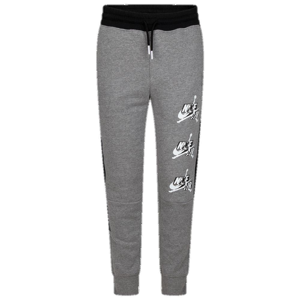 Jordan Jumpman Classics III Fleece Pants - Boys Grade School / Carbon Heather/Black/White