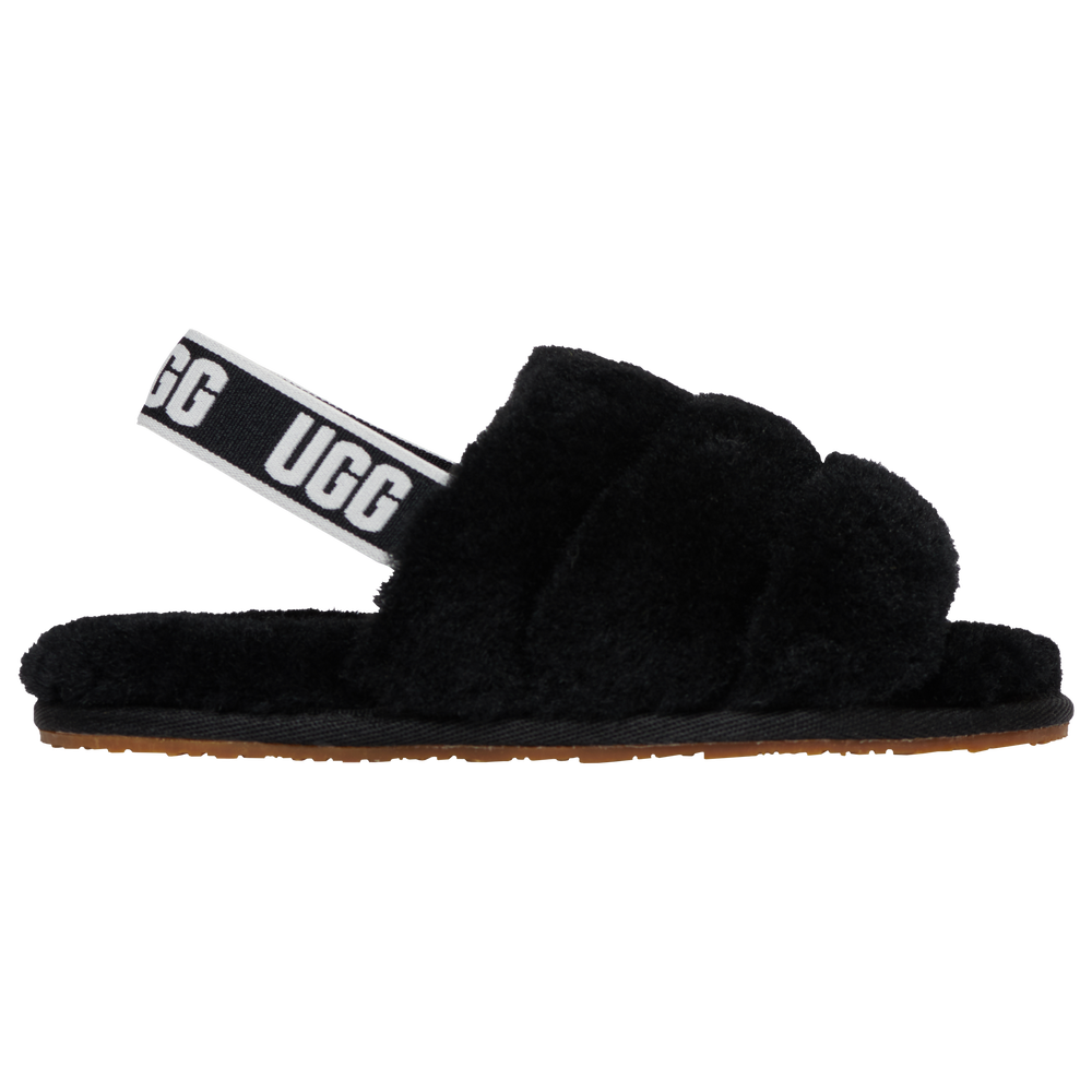UGG Fluff Yeah Slide - Girls Toddler / Black/Black