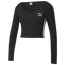 PUMA Classics Ribbed Long Sleeve Cropped Top - Women's