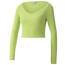 PUMA Classics Rib Long Sleeve Crop Top - Women's