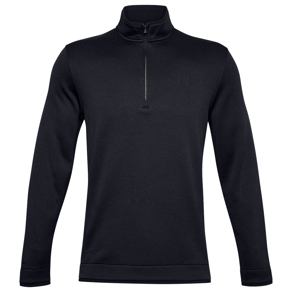 Under Armour Storm Sweater Golf 1/2 Zip - Mens / Black/Black/Black