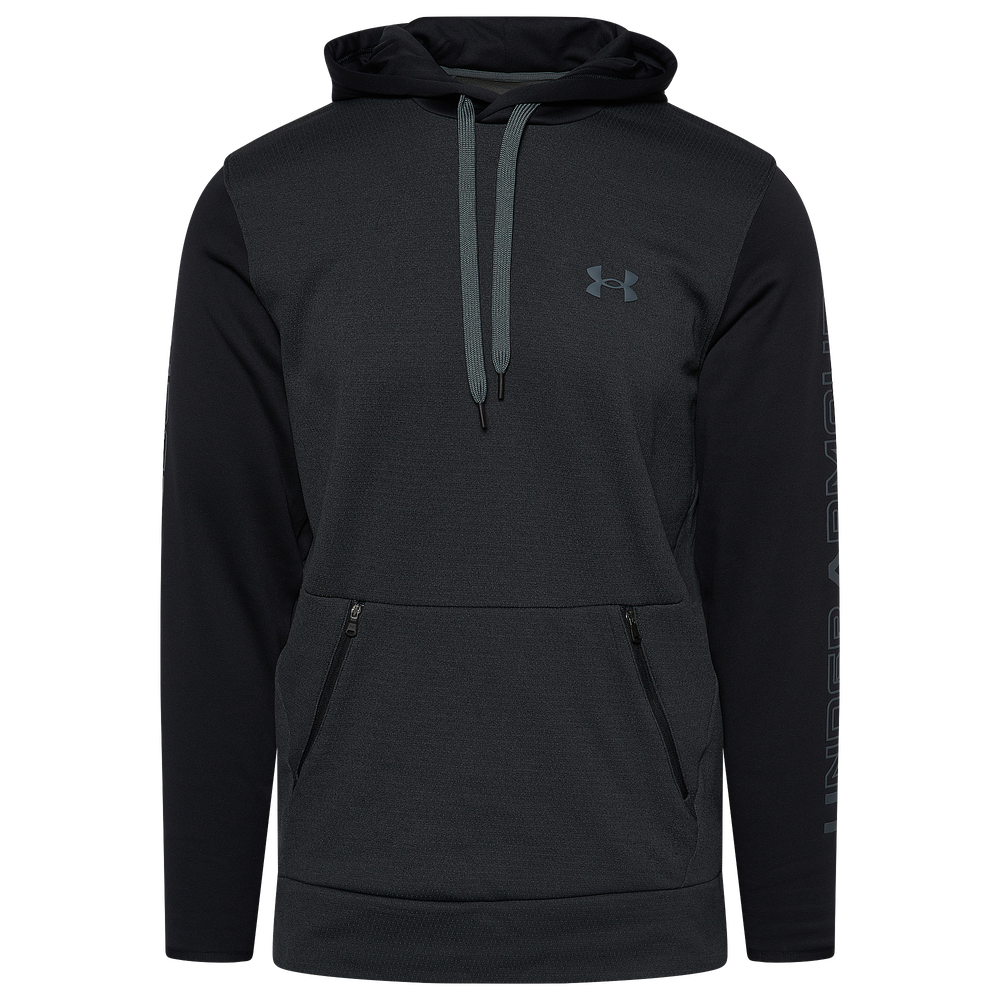 Under Armour Fleece Plus Pullover Hoodie - Mens / Black/Pitch Grey