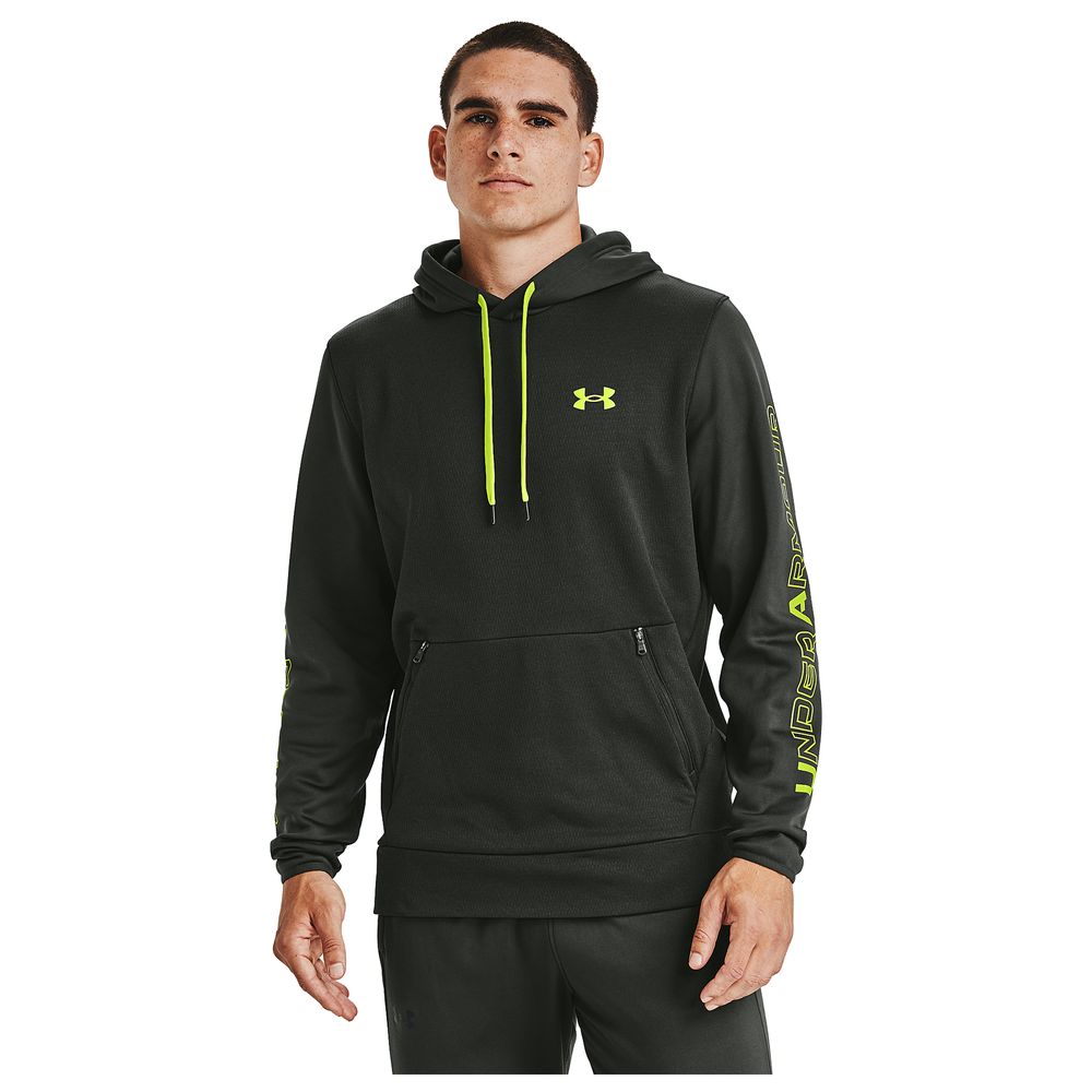Under Armour Fleece Plus Pullover Hoodie - Mens / Boroque Green/Black