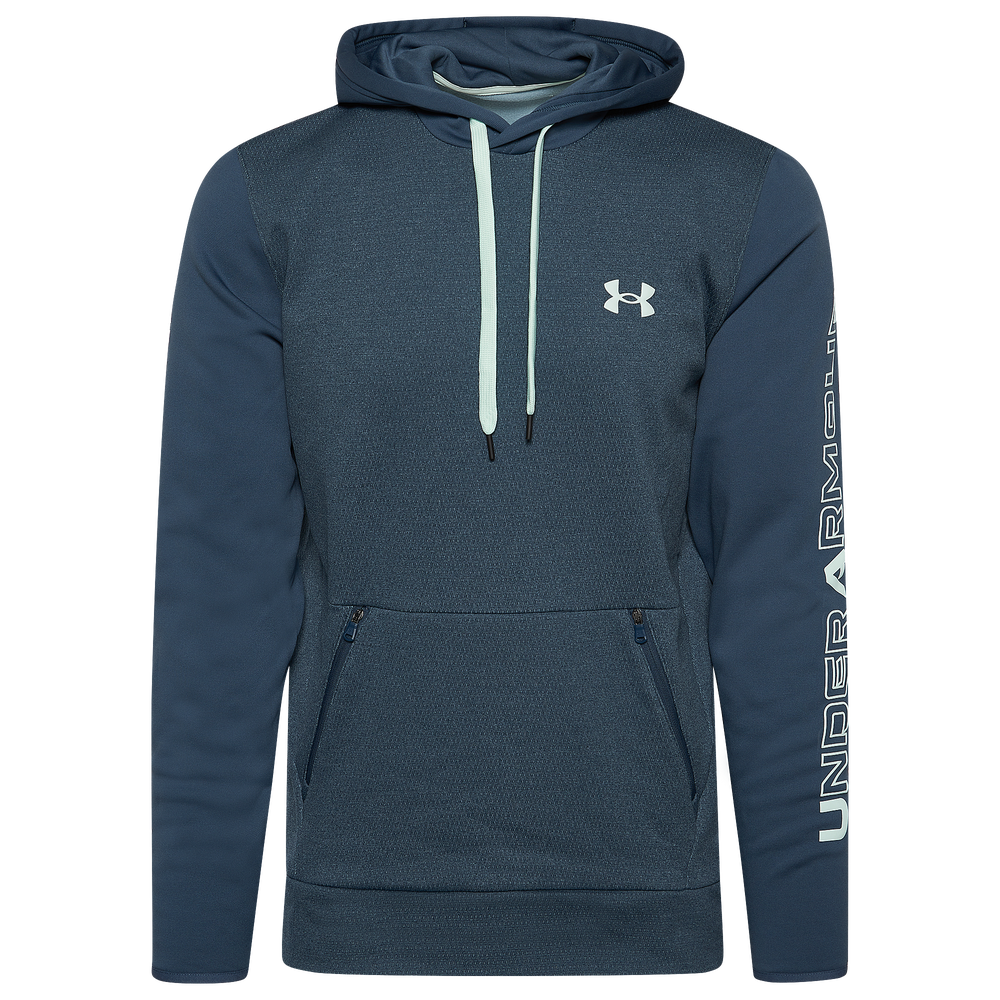Under Armour Fleece Plus Pullover Hoodie - Mens / Mechanic Blue/Seaglass Blue