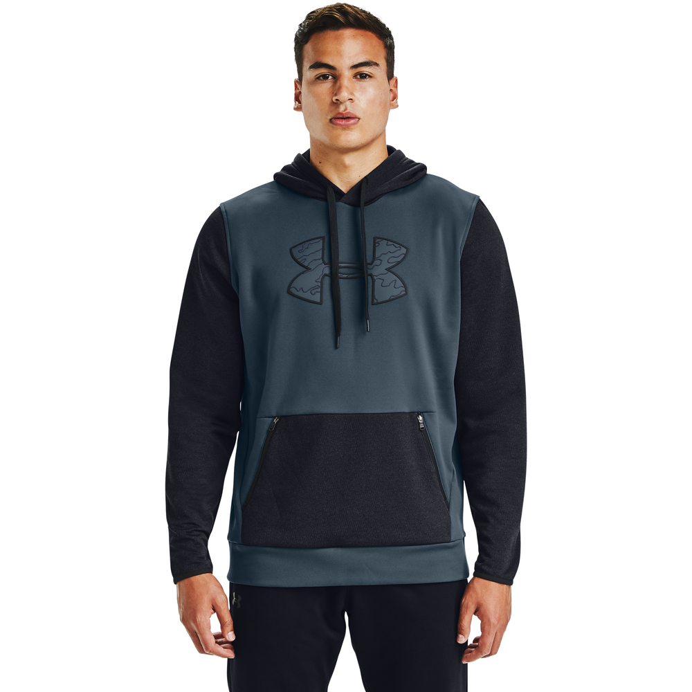 Under Armour Armour Fleece Plus Pullover Hoodie - Mens / Mechanic Blue/Black