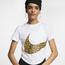 Nike Animal Print Swoosh Crop T-Shirt - Women's
