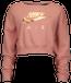 Nike Rose Gold Metallic Air Crew - Women's