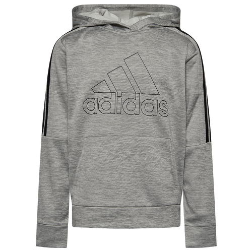Flex classic adidas style in the iconic 3-Stripe Pullover. Kangaroo pocket gives you easy storage. Features applied 3-Stripes across the shoulders and hood. Shows off a Badge of Sport screen printed on the chest. 100% polyester. Imported.