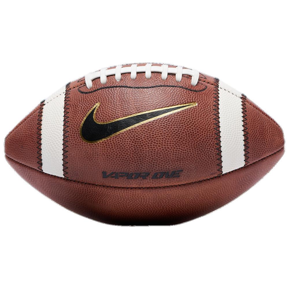 Nike Vapor One 2.0 NFHS Football - Adult / Brown/White/Mtlc Gold