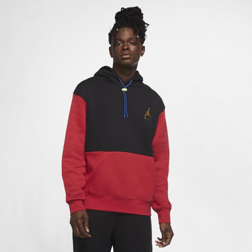 Jordan Jumpman Air Fleece Hoodie - Mens / Black/Gym Red/Gym Red
