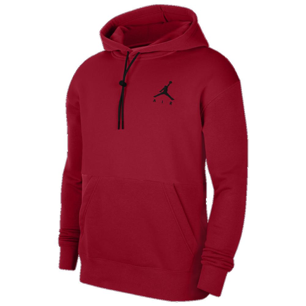 Jordan Jumpman Air Fleece Hoodie - Mens / Gym Red/Red