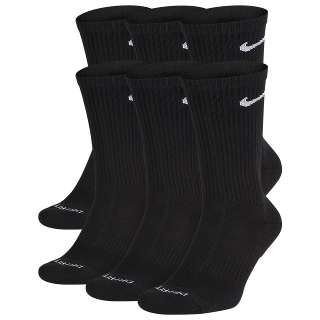 Nike 6 Pack Dri-FIT Plus Crew Socks - Men's