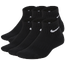 Nike 6 Pack Cushioned Quarter Socks - Boys' Grade School