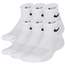 Nike 6 Pack Cushioned Quarter Socks - Boys' Grade School