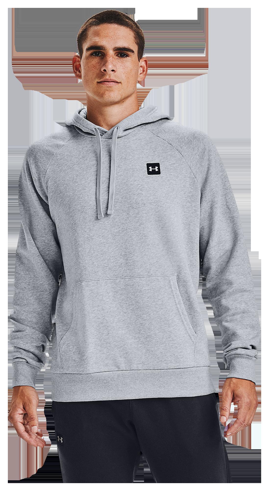 Under Armour Rival Fleece LC Logo Hoodie - Mens / Mod Grey Lt Heather/Onyx White