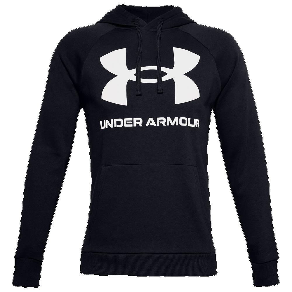 Under Armour Rival Fleece Big Logo Hoodie - Mens / Black/Onyx White