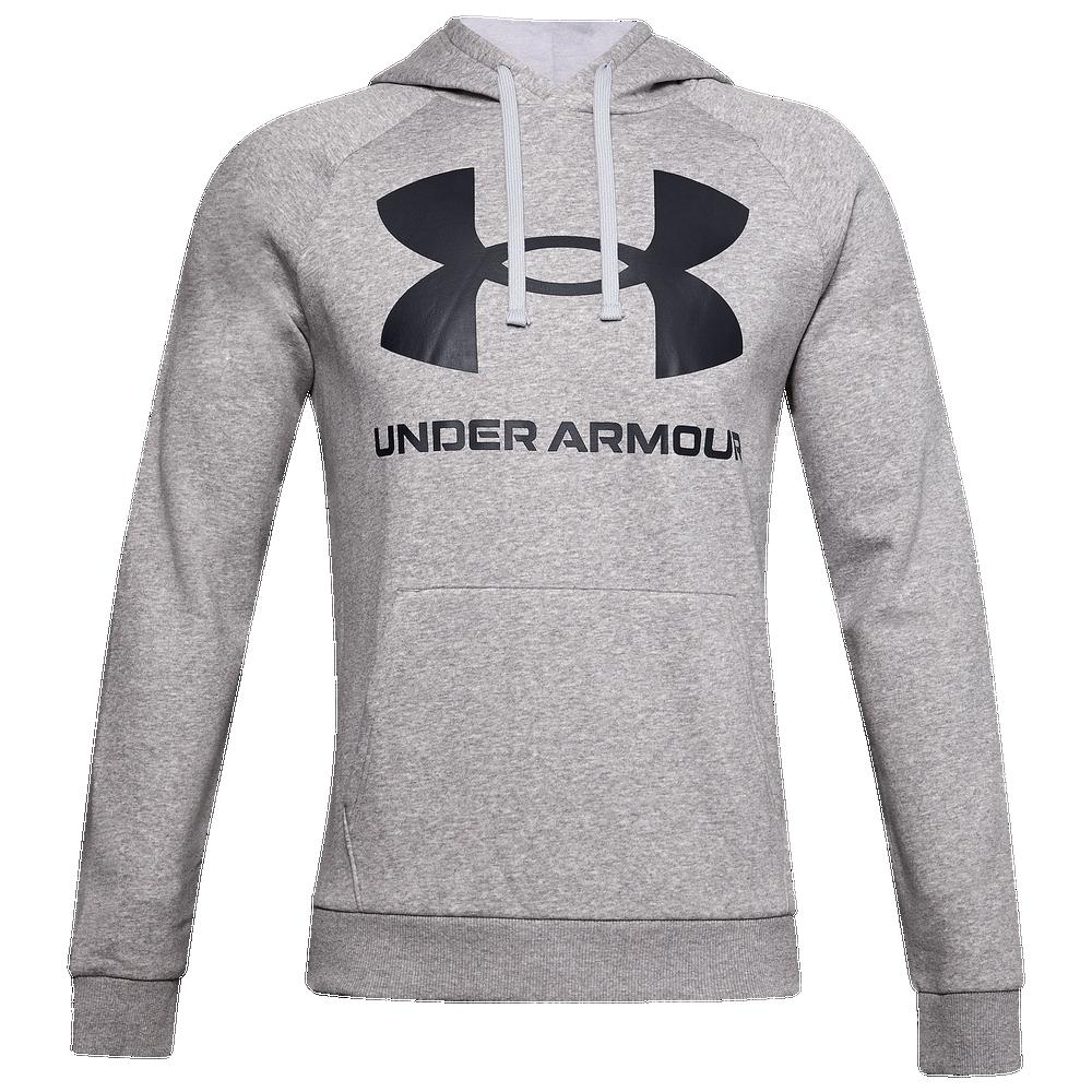 Under Armour Rival Fleece Big Logo Hoodie - Mens / Mod Grey Lt Heather/Black