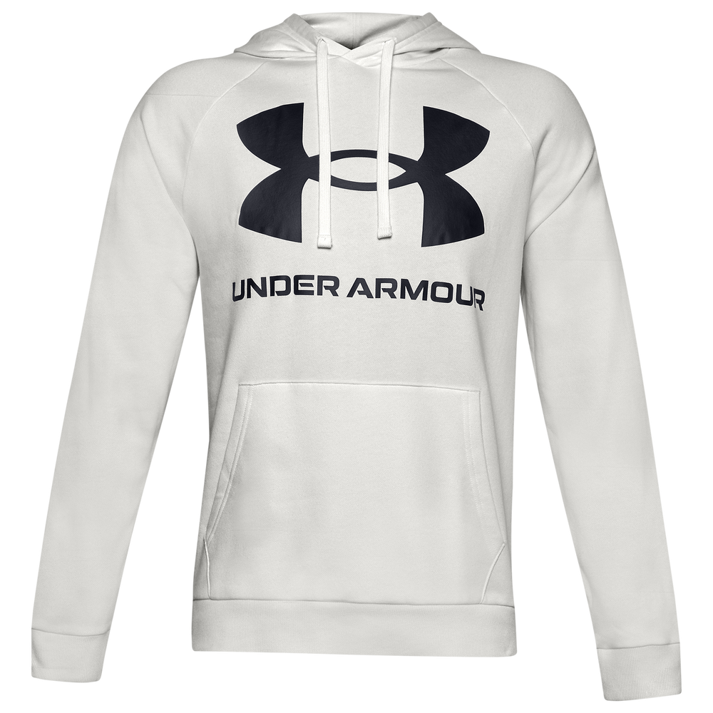 Under Armour Rival Fleece Big Logo Hoodie - Mens / Onyx White/Black