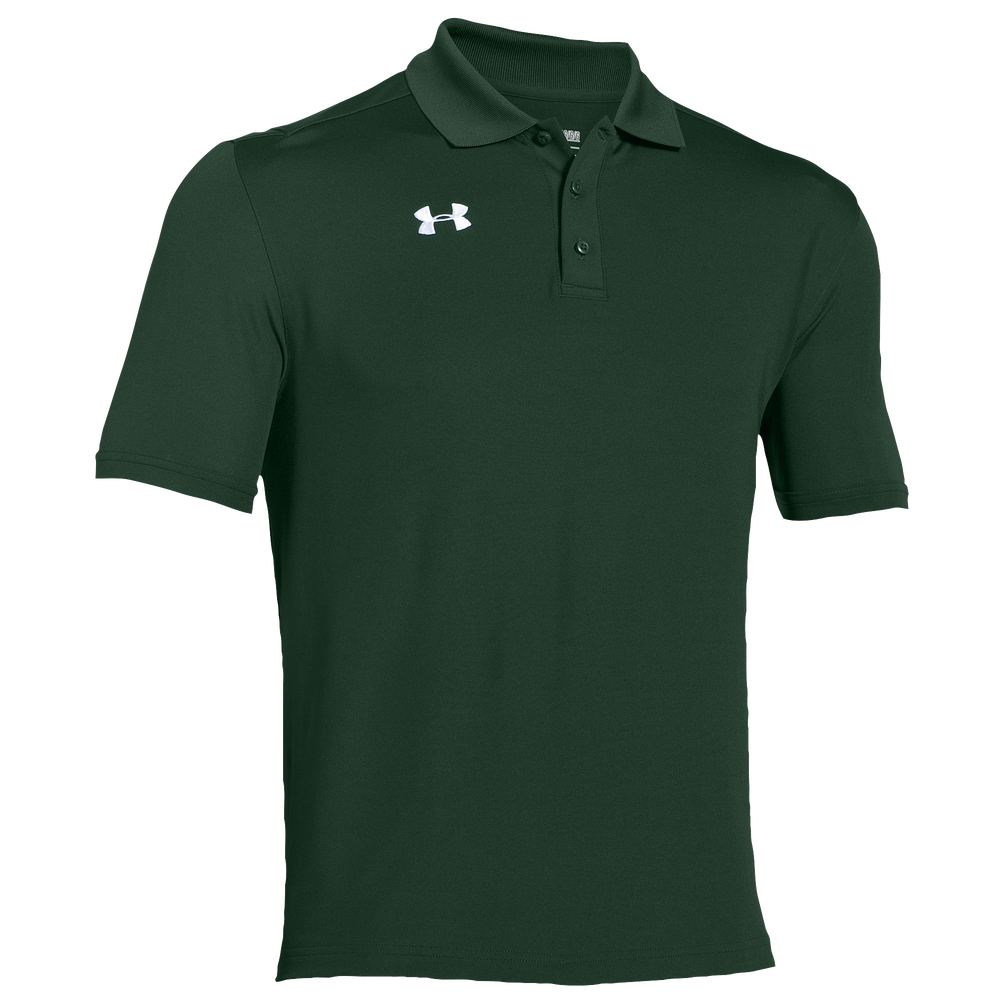Under Armour Team Armour Polo - Mens / Team Forest Green/White