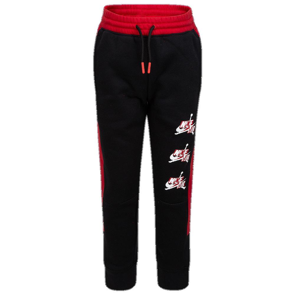 Jordan Jumpman Classics III Fleece Pants - Boys Preschool / Black/Gym Red/White