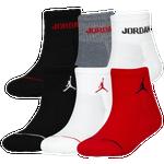 Jordan Jumpman 6 Pack Quarter Socks - Boys' Grade School