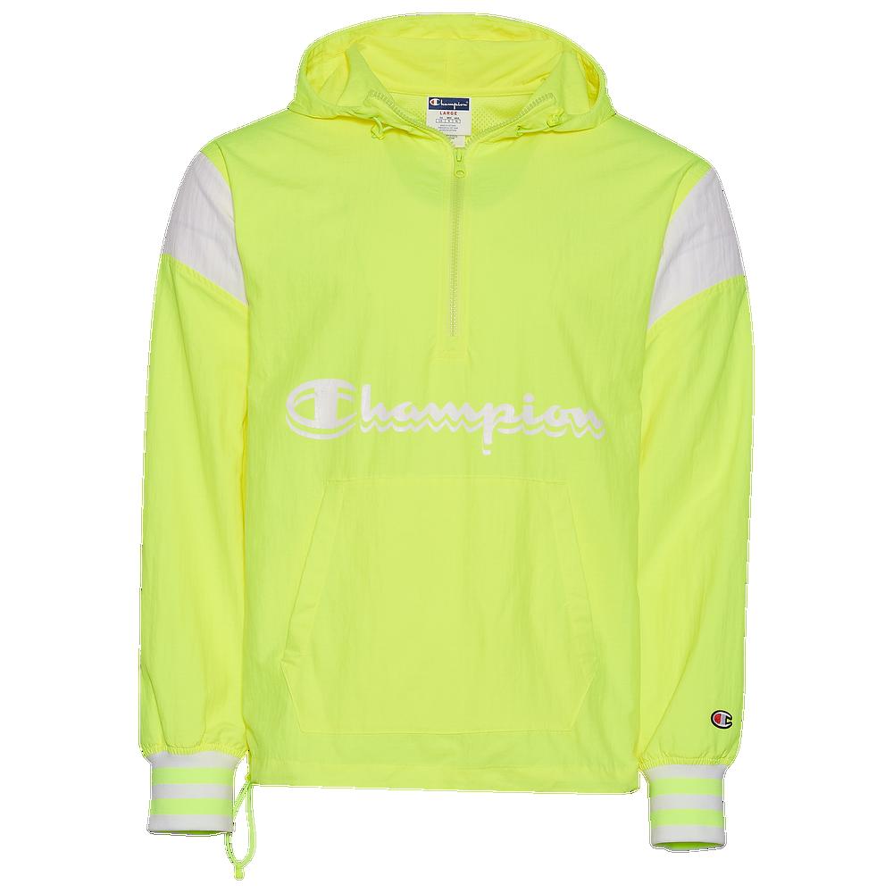 Champion Script Anorak 2.0 Jacket - Mens / Highlighter Yellow/White