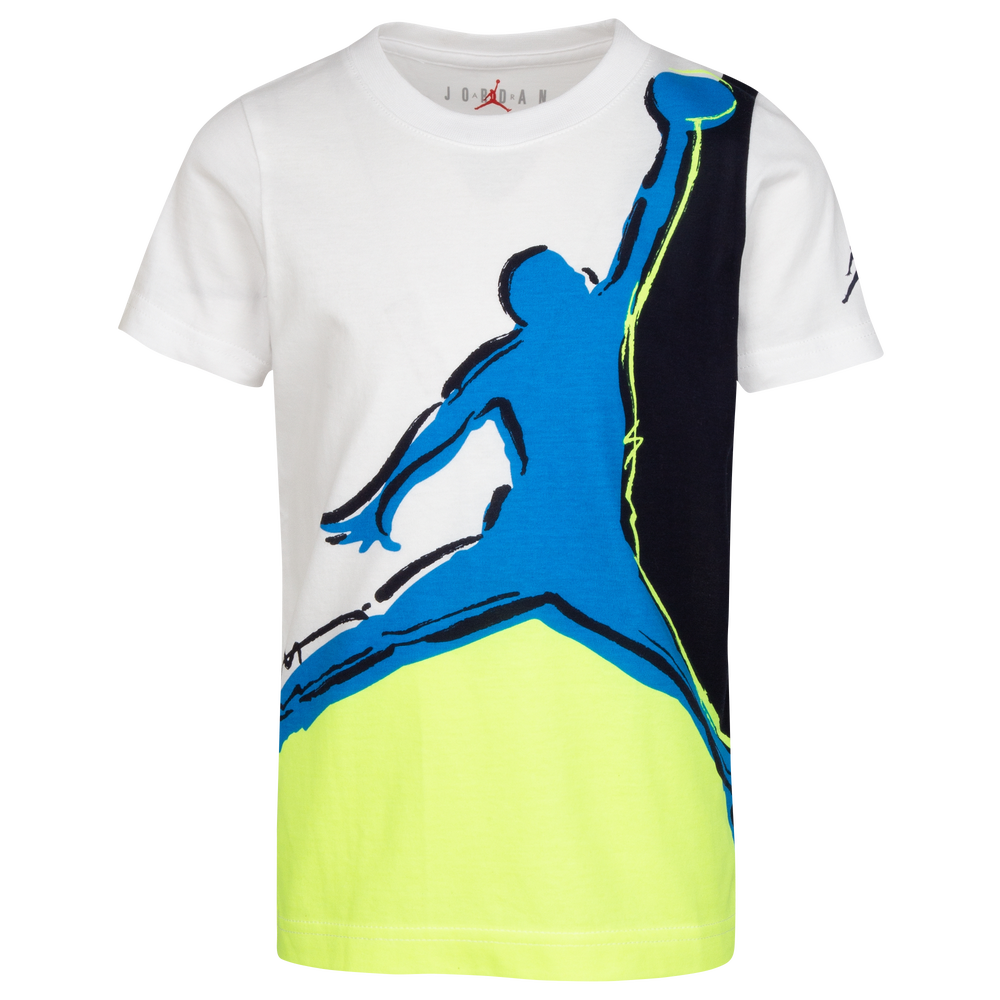 Jordan Painted Jumpman S/S T-Shirt - Boys Preschool / White