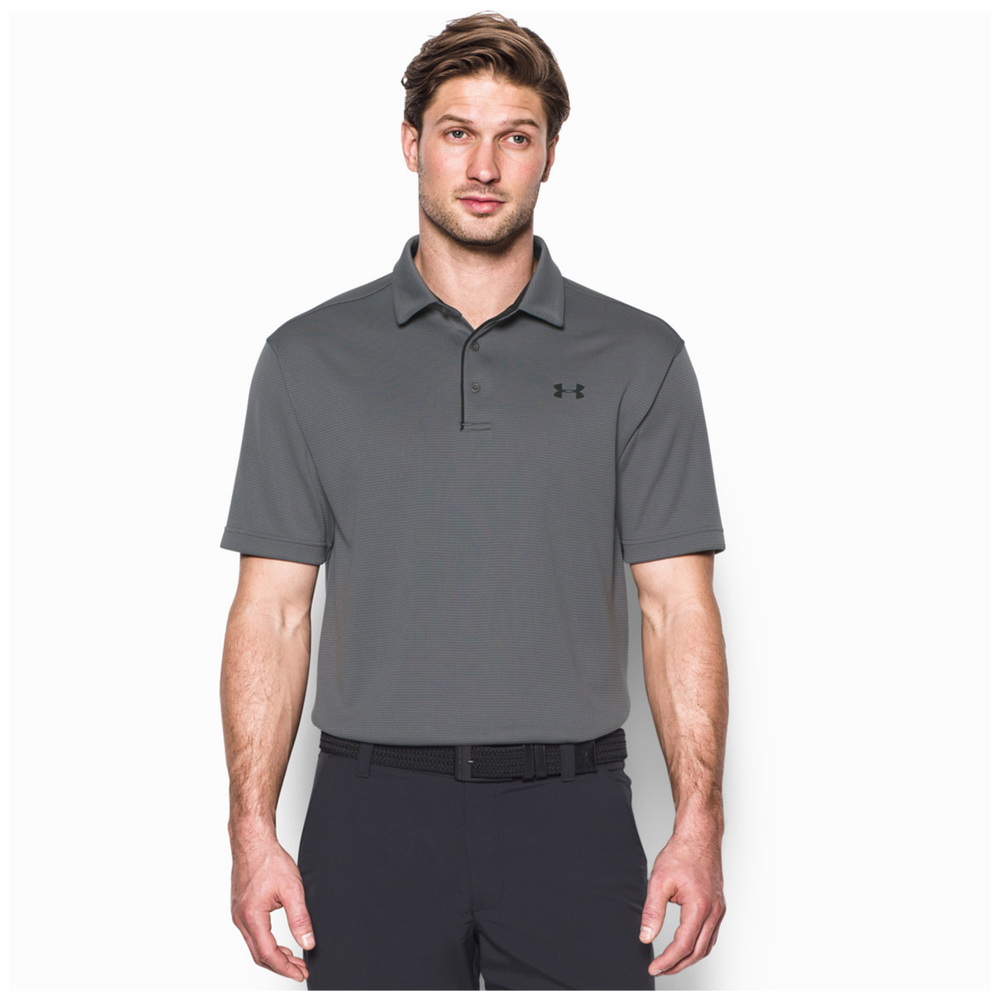 Under Armour Tech Golf Polo - Mens / Graphite/Black/Black