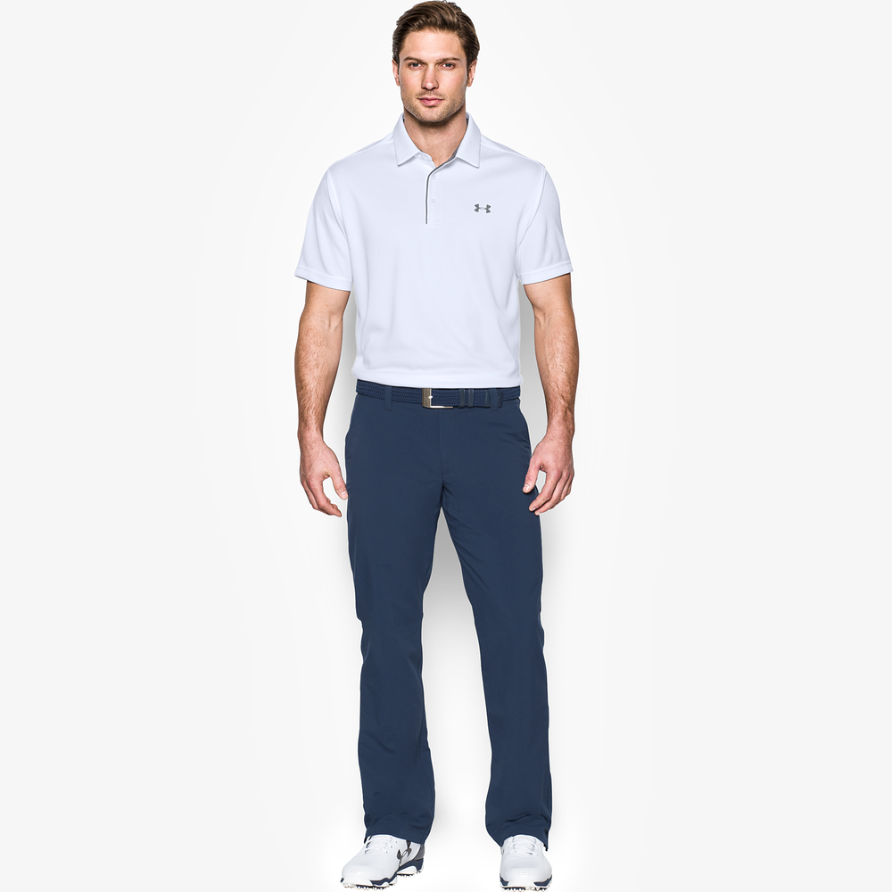 Under Armour Tech Golf Polo - Mens / White/Graphite/Graphite