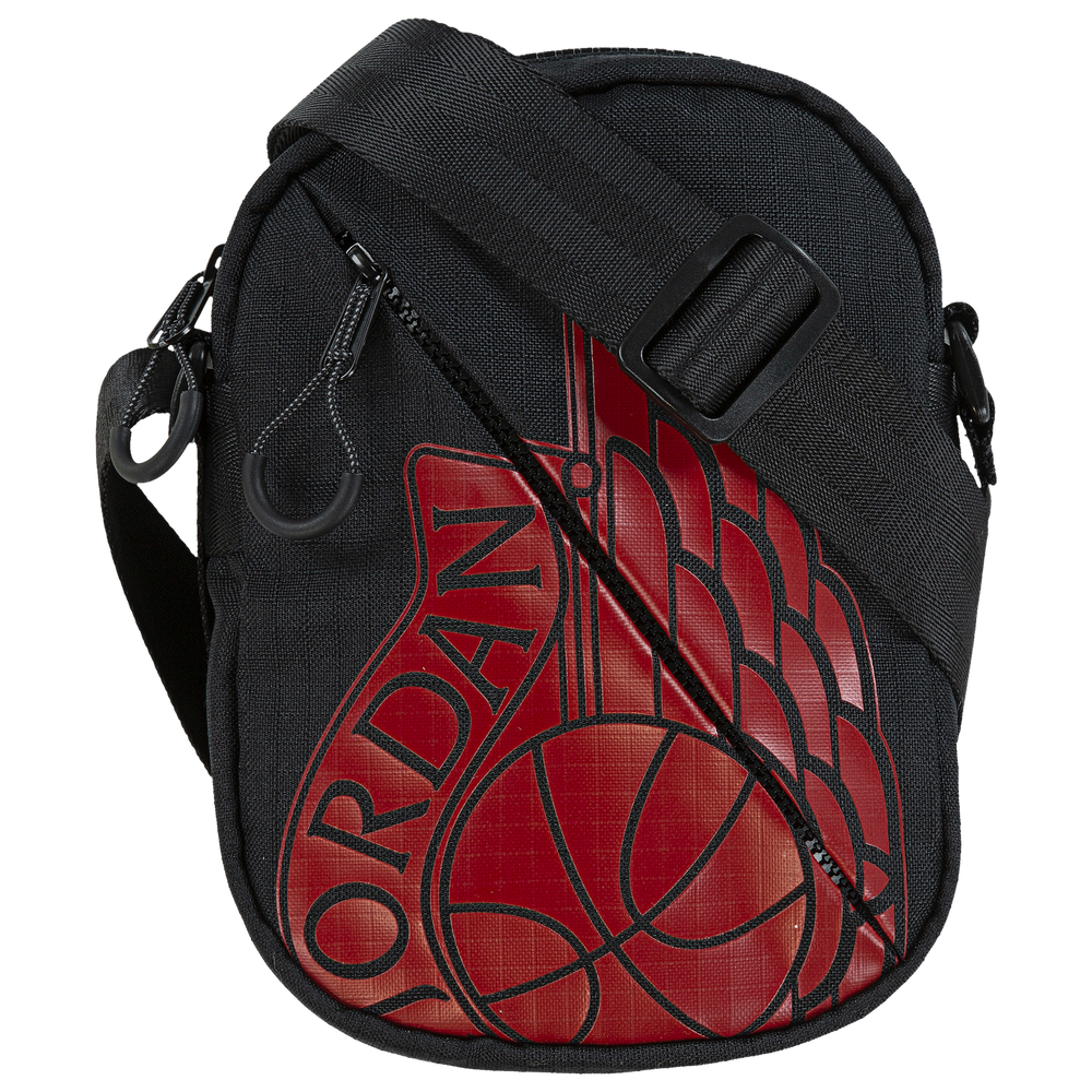 Jordan Wings Crossbody Festival Bag - Adult / Black/Gym Red
