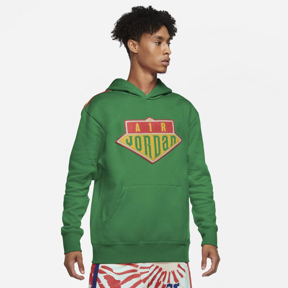 Jordan DNA Sport Hoodie - Mens / Lucky Green/Track Red