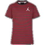 Jordan AJ Striped T-Shirt - Boys' Grade School