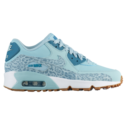 New Girls Nike Air Max 90 - Grade School - Ocean Bliss/Noise Aqua/White