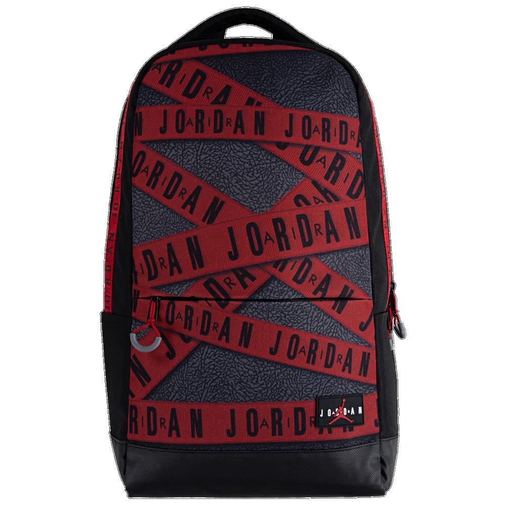 Jordan GFX Backpack - Adult / Black/Gym Red