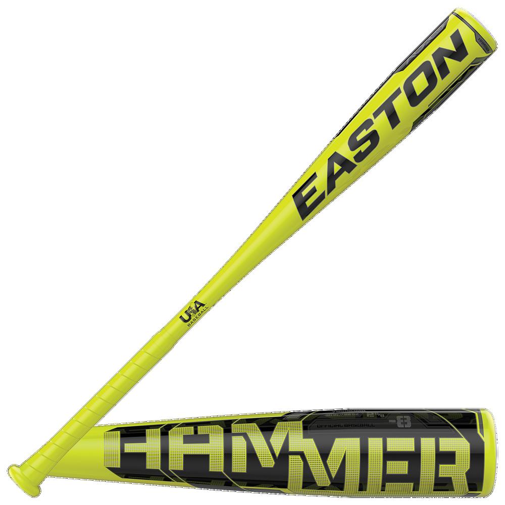 Easton Hammer USA Baseball Bat - Grade School / Lime/Black   -8 oz / 2 5/8 Barrel