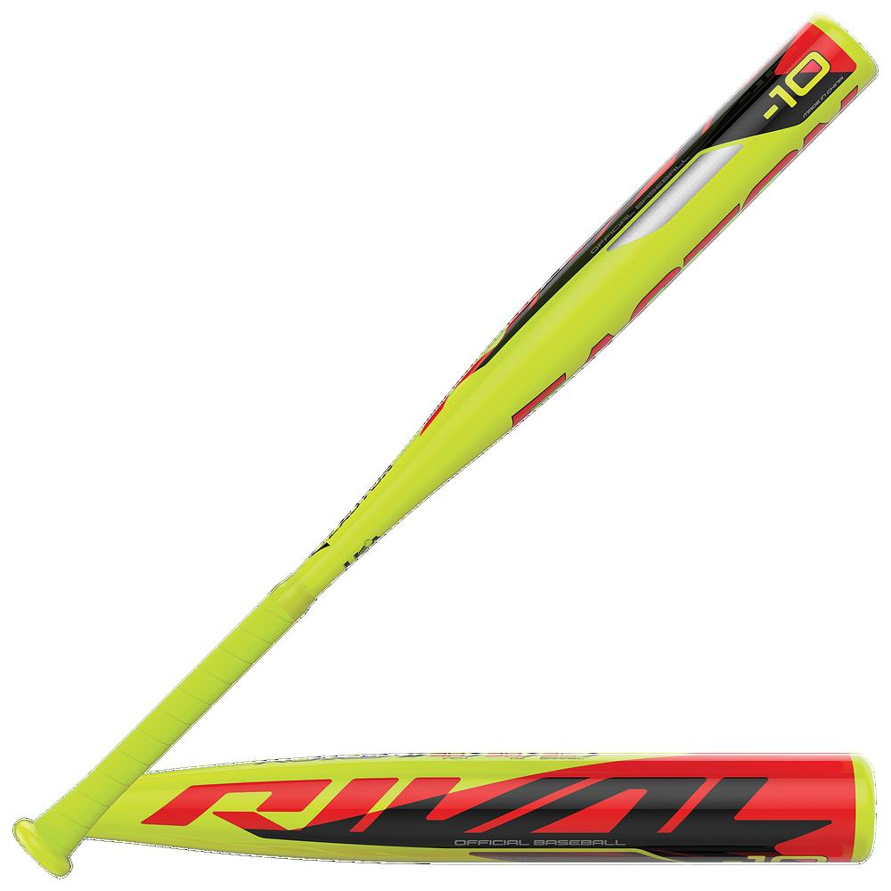 Easton Rival USA Baseball Bat - Grade School / Lime/Black   -10 oz / 2 1/4 Barrel