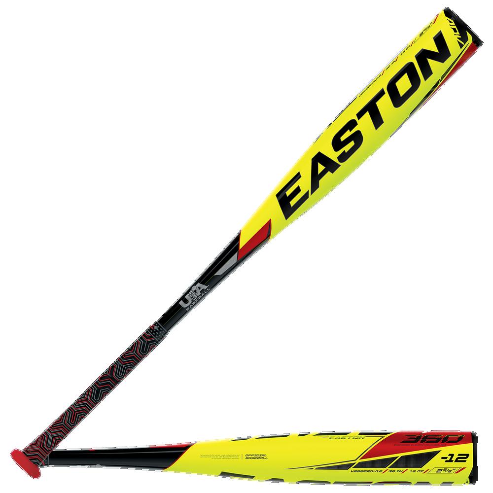 Easton YBB20ADV12 ADV1 360 USA Baseball Bat - Mens / Yellow/Black/Red   -12 oz / 2 5/8 Barrel