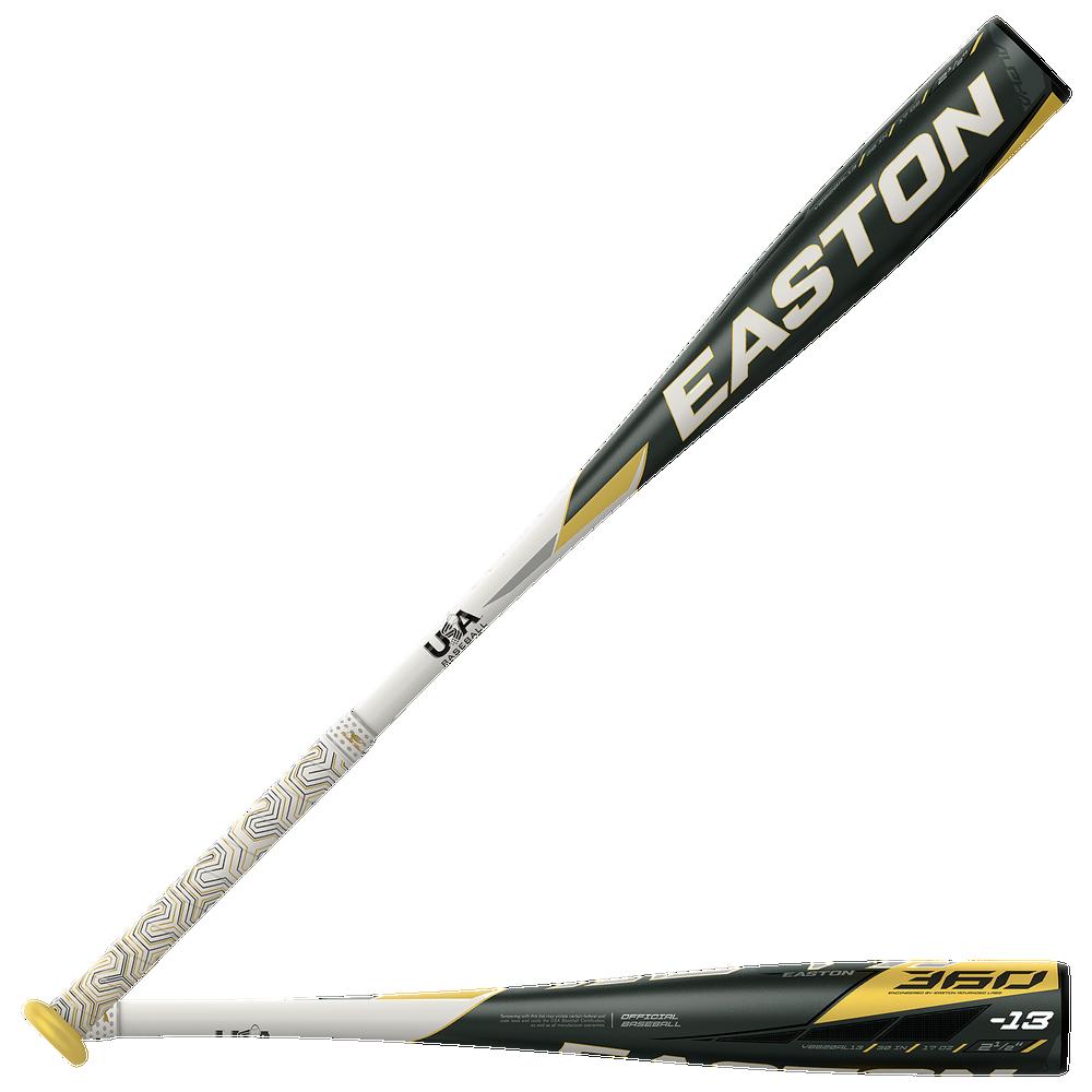 Easton YBB20AL13 ALPHA 360 USA Baseball Bat - Mens / Black/White/Gold   -13 / 2 5/8 Barrel