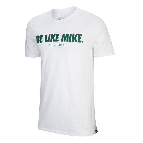 51bc9f1f7dad Jordan JSW Like Mike Verbiage T-Shirt - Mens - White