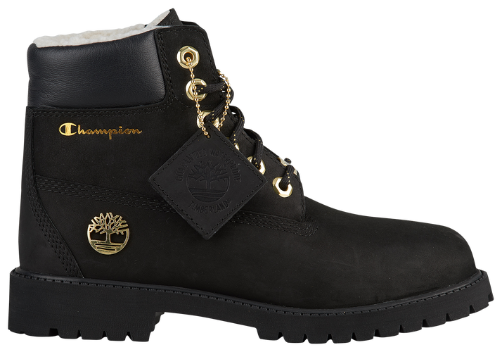 Timberland X Champion 6 Shearling Boots Boys Grade School Shoes
