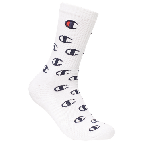 Champion Cottons MENS CHAMPION ALL OVER C CREW SOCK WITH EMBROIDERY
