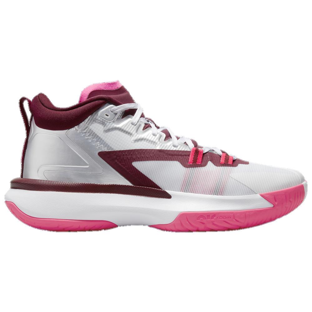 Jordan Zion 1 - Mens / White/Metallic Silver/Hyper Pink