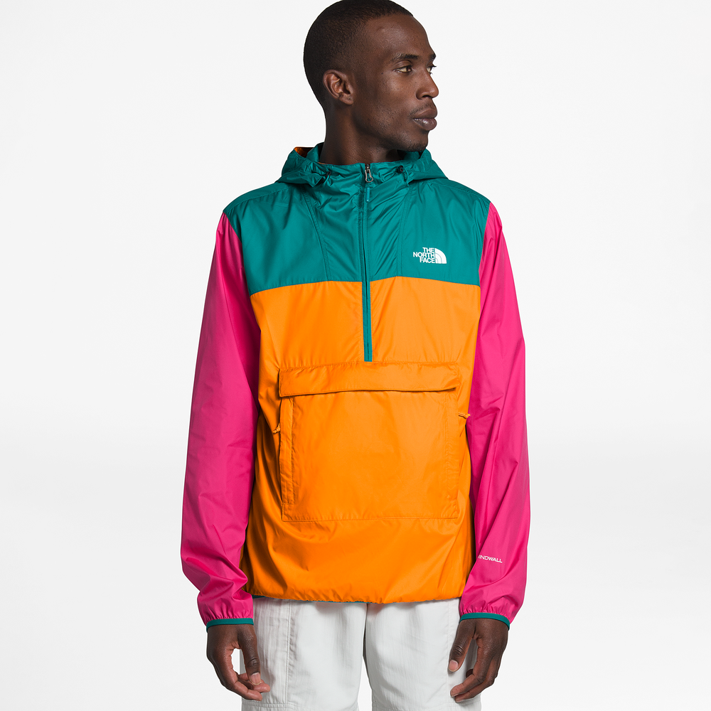 The North Face Fanorak - Mens / Flame Orange/Fanfare Green/Mr Pink