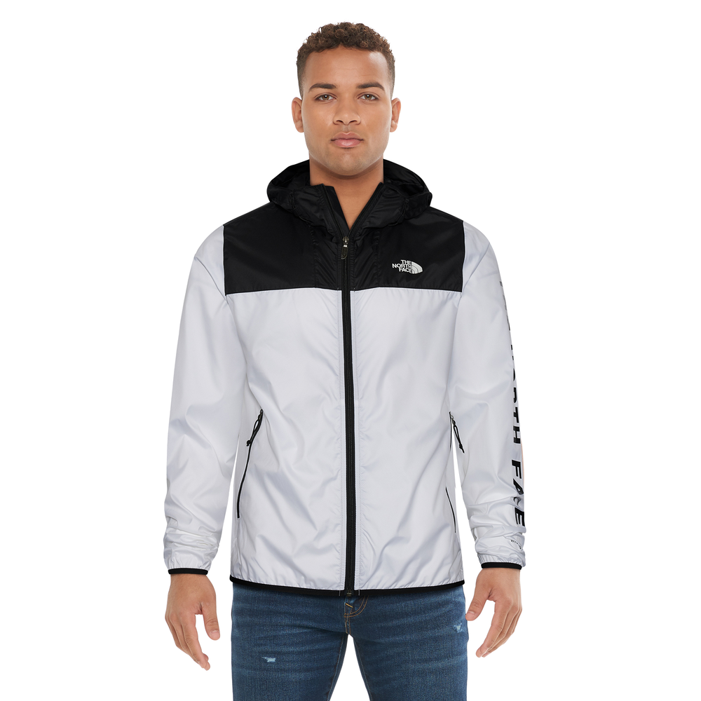 The North Face Cyclone 2.0 Windbreaker Jacket - Mens / White/Black