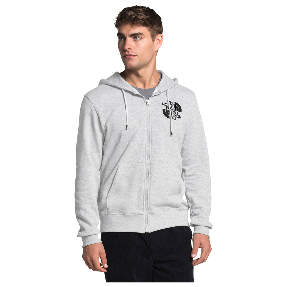 The North Face Double Dome Full-Zip Hoodie - Mens / Tnf Light Grey Heather