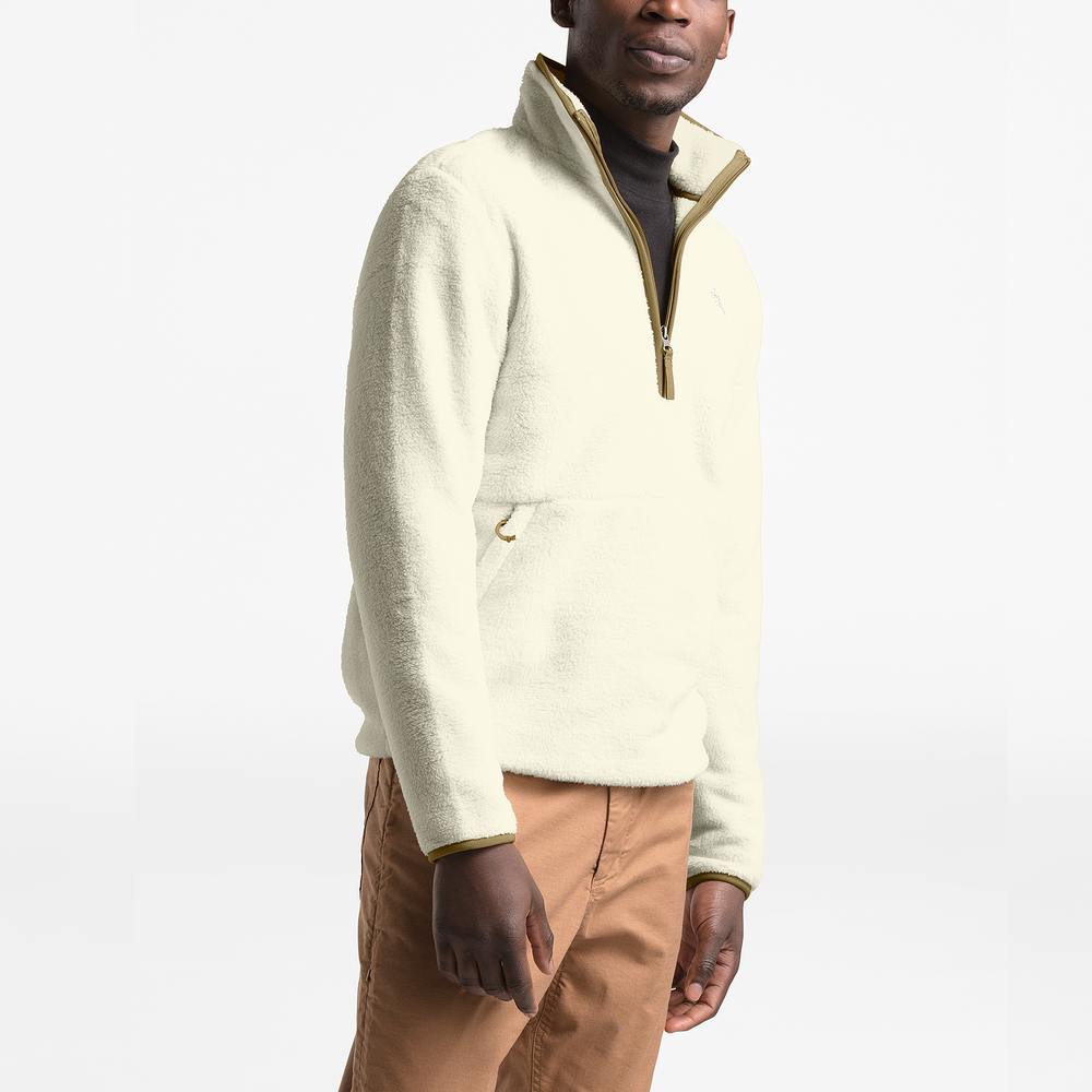 The North Face Dunraven Sherpa 1/4-Zip Pullover - Mens / Vintage White | Past Season Product