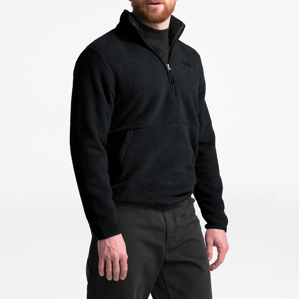 The North Face Dunraven Sherpa 1/4-Zip Pullover - Mens / Tnf Black | Past Season Product