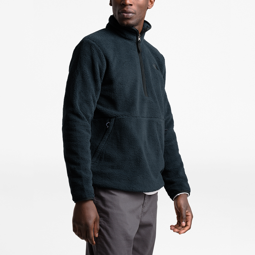 The North Face Dunraven Sherpa 1/4-Zip Pullover - Mens / Urban Navy | Past Season Product