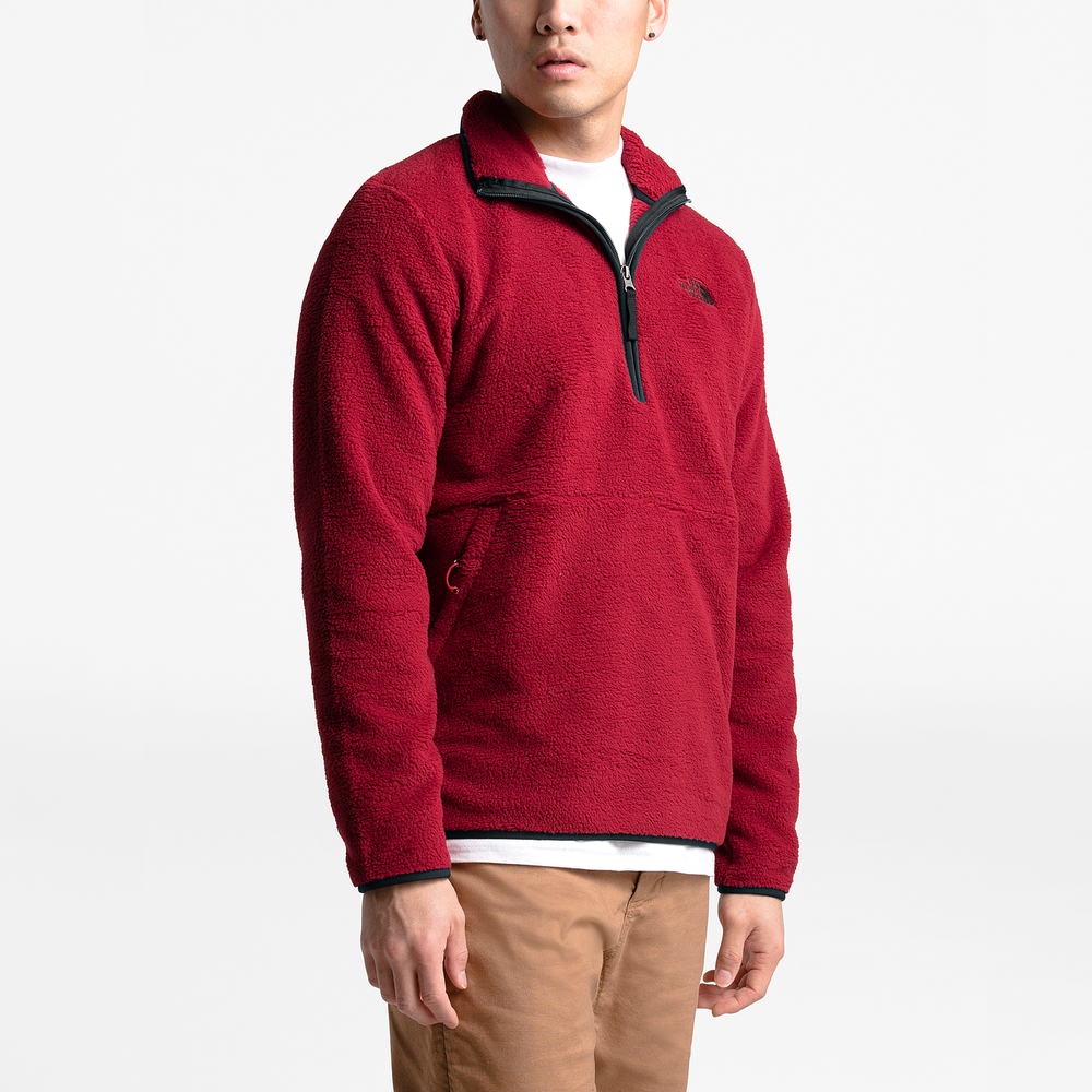 The North Face Dunraven Sherpa 1/4-Zip Pullover - Mens / Cardinal Red | Past Season Product